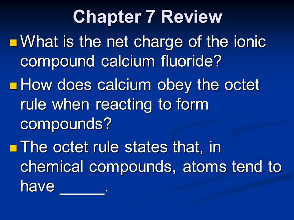 "Chapter 7 Review ""Ionic and Metallic Bonding"" - ppt download"