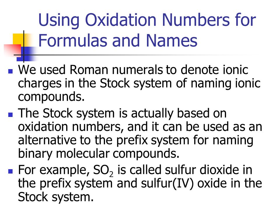 chapter 7 2 oxidation numbers ppt video online download periodic table - Periodic Table Oxidation Numbers