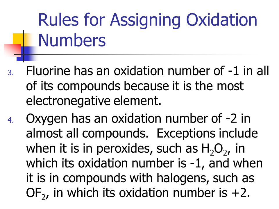 assign oxidation wide variety to help h2o2