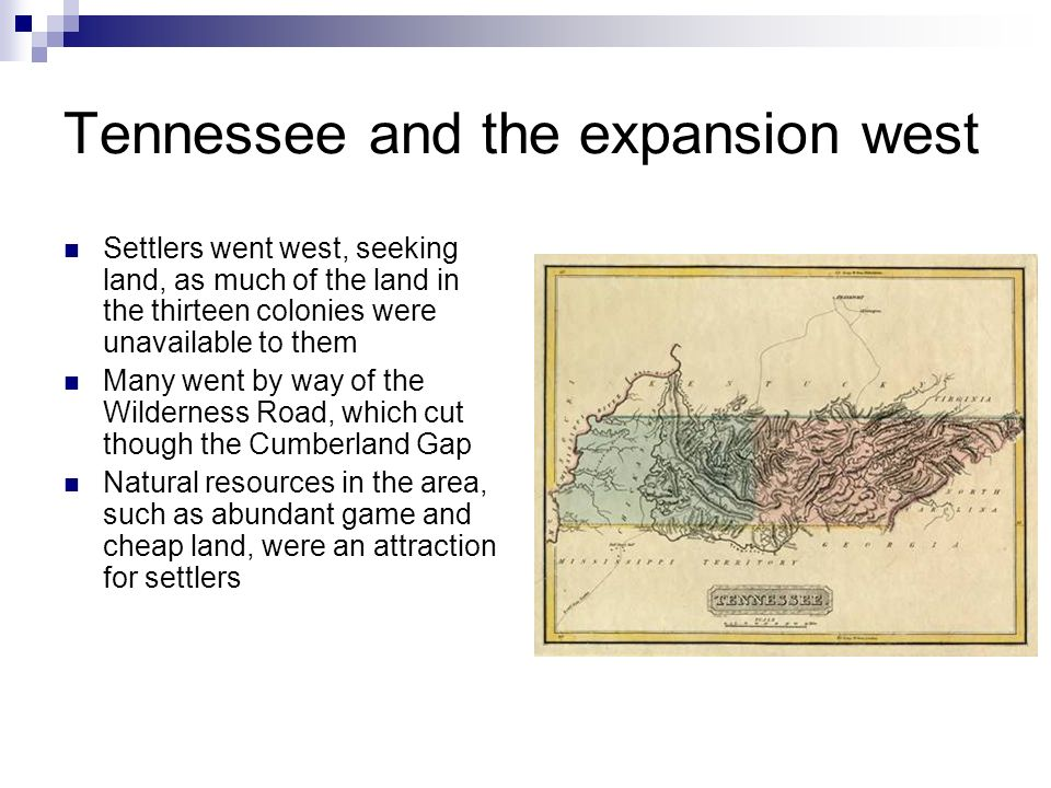 Tennessee and the expansion west