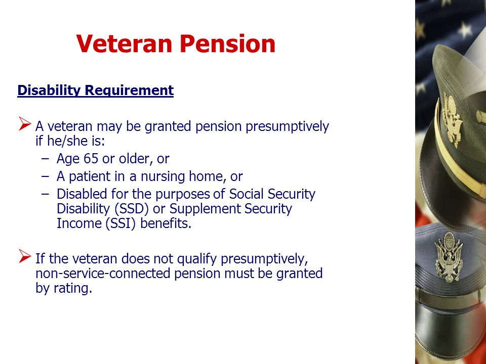 Veteran Pension Disability Requirement