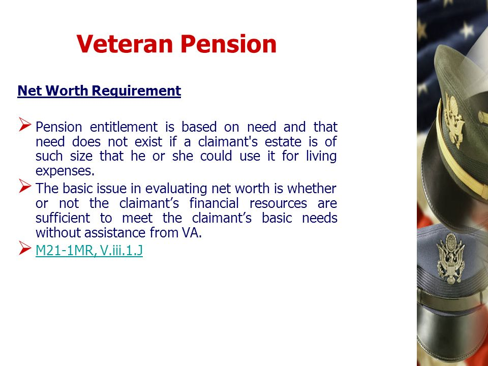 Veteran Pension Net Worth Requirement