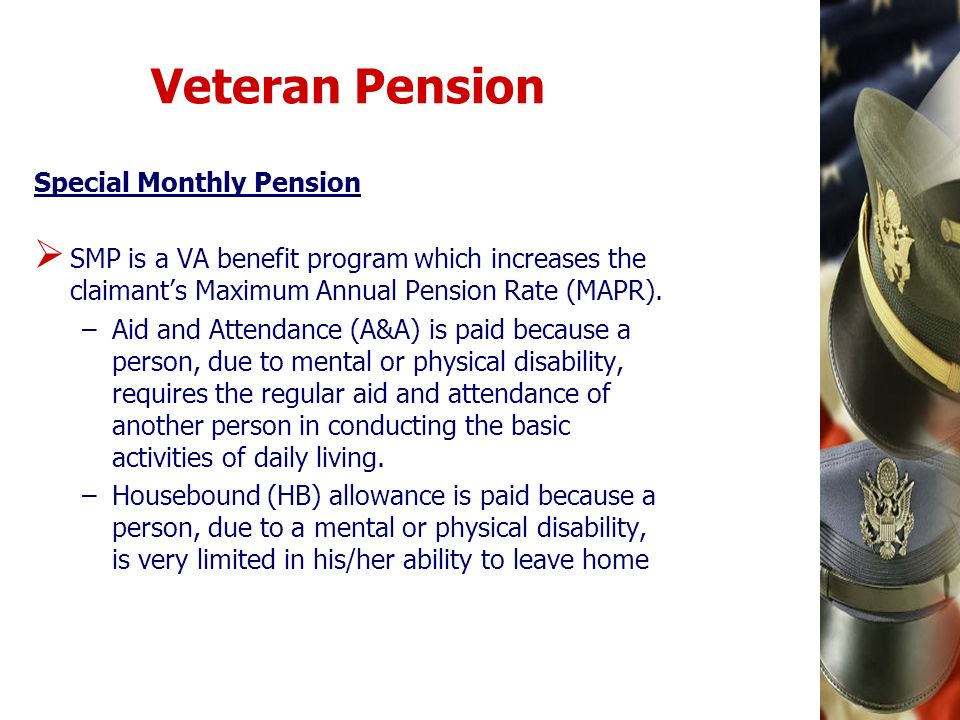 Veteran Pension Special Monthly Pension