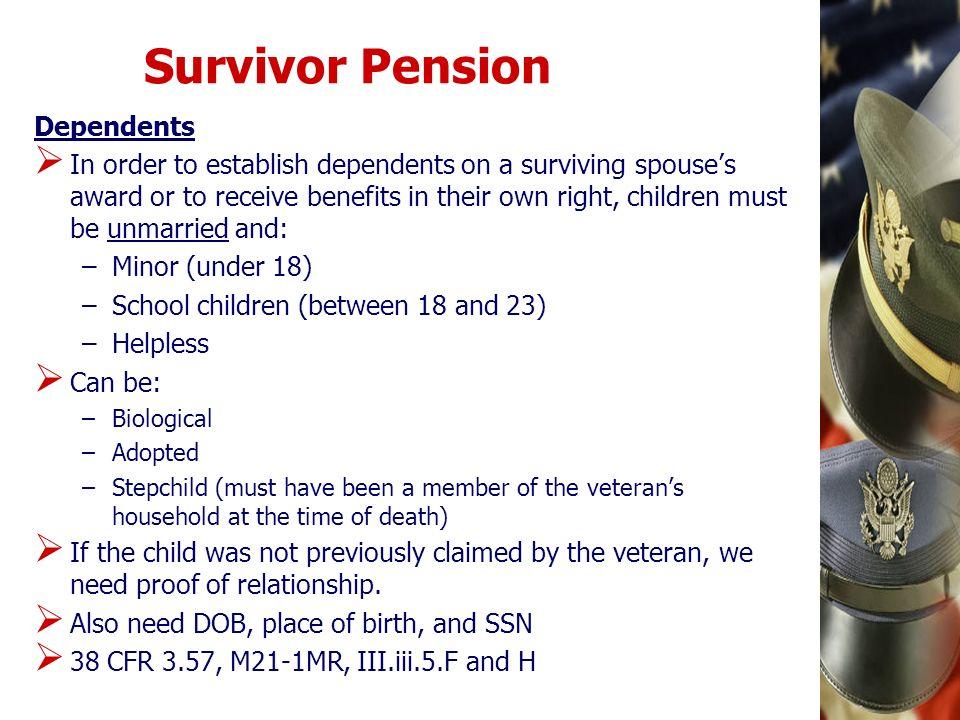Survivor Pension Dependents