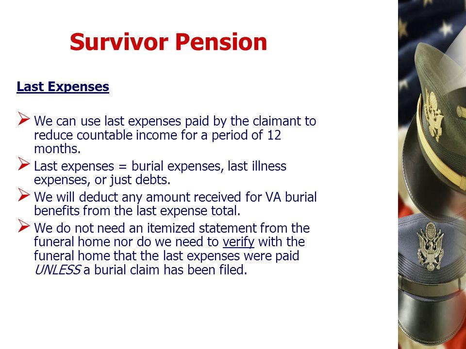 Survivor Pension Last Expenses