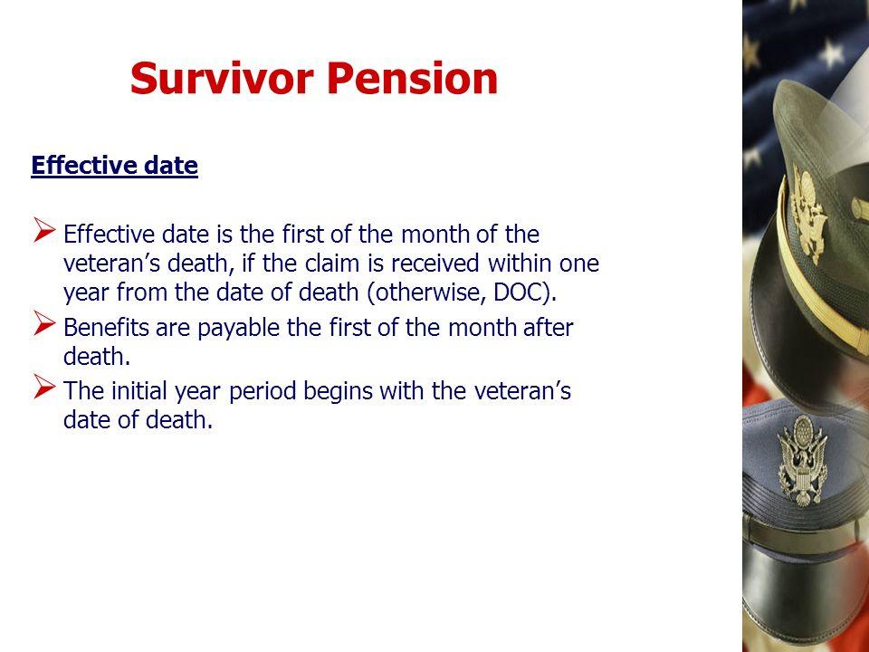 Survivor Pension Effective date