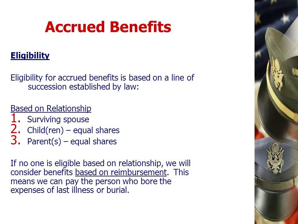 Accrued Benefits Eligibility