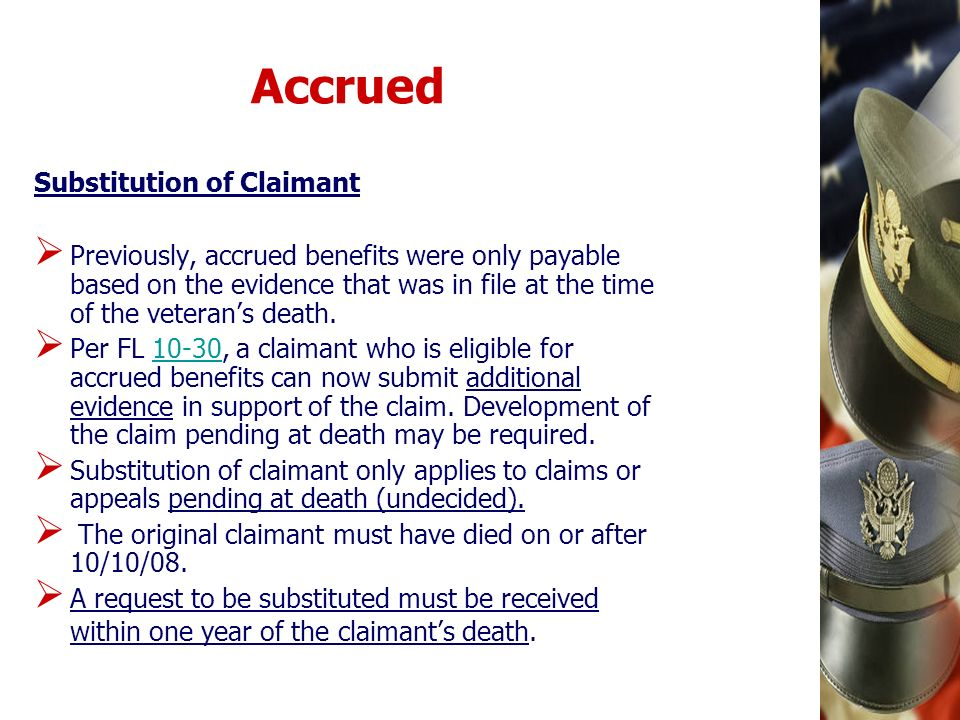 Accrued Substitution of Claimant