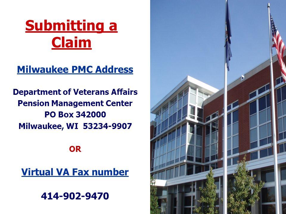 Department of Veterans Affairs Pension Management Center