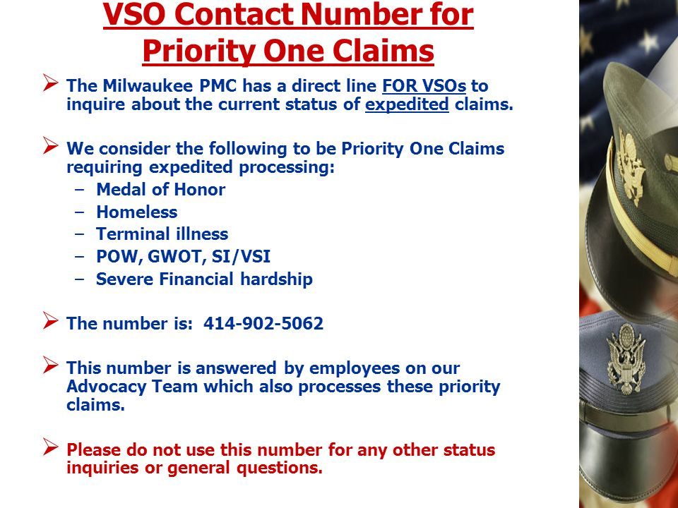 VSO Contact Number for Priority One Claims