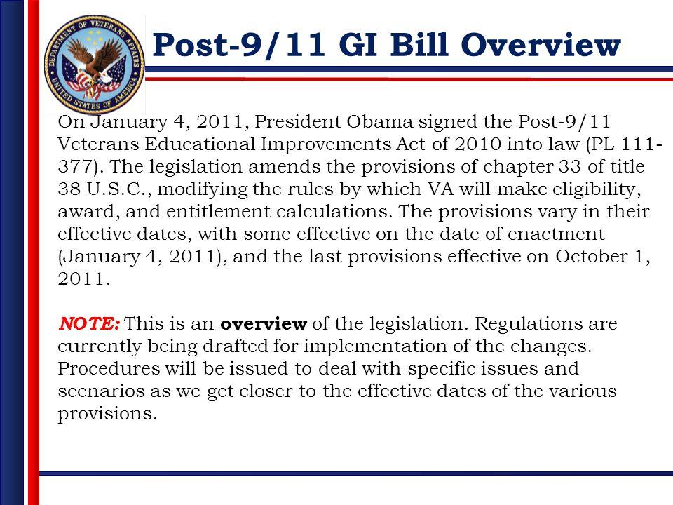 Post-9/11 GI Bill Overview