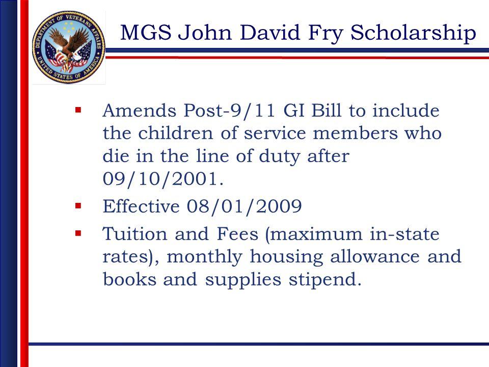 MGS John David Fry Scholarship