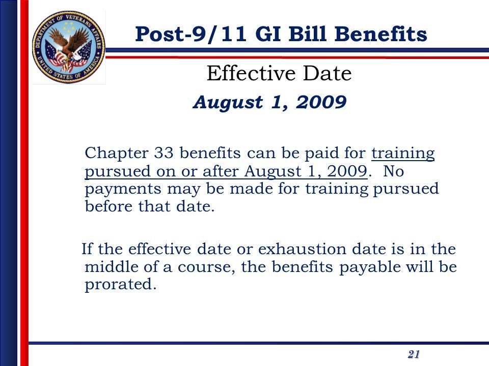 Post-9/11 GI Bill Benefits