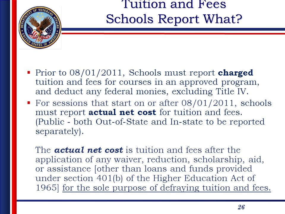 Tuition and Fees Schools Report What