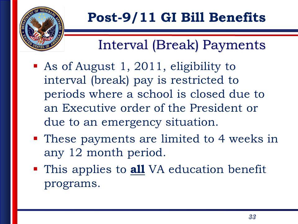 Interval (Break) Payments