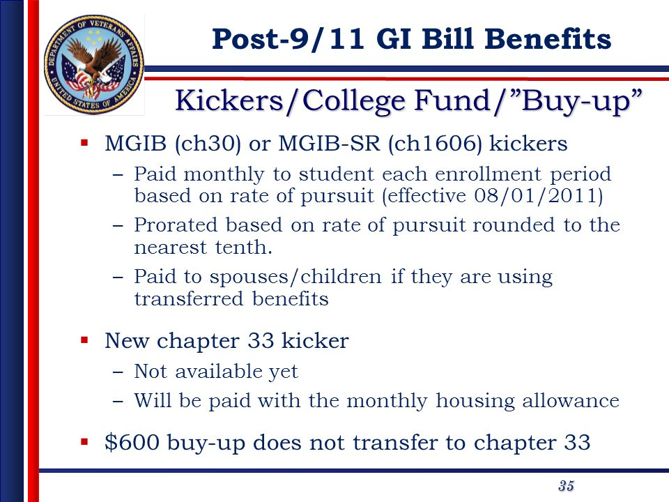 Kickers/College Fund/ Buy-up