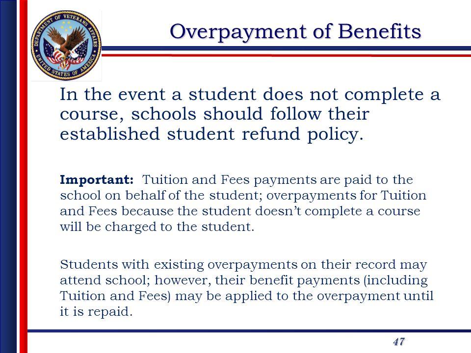 Overpayment of Benefits