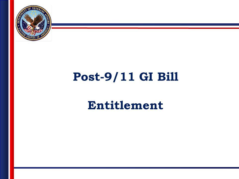 Post-9/11 GI Bill Entitlement