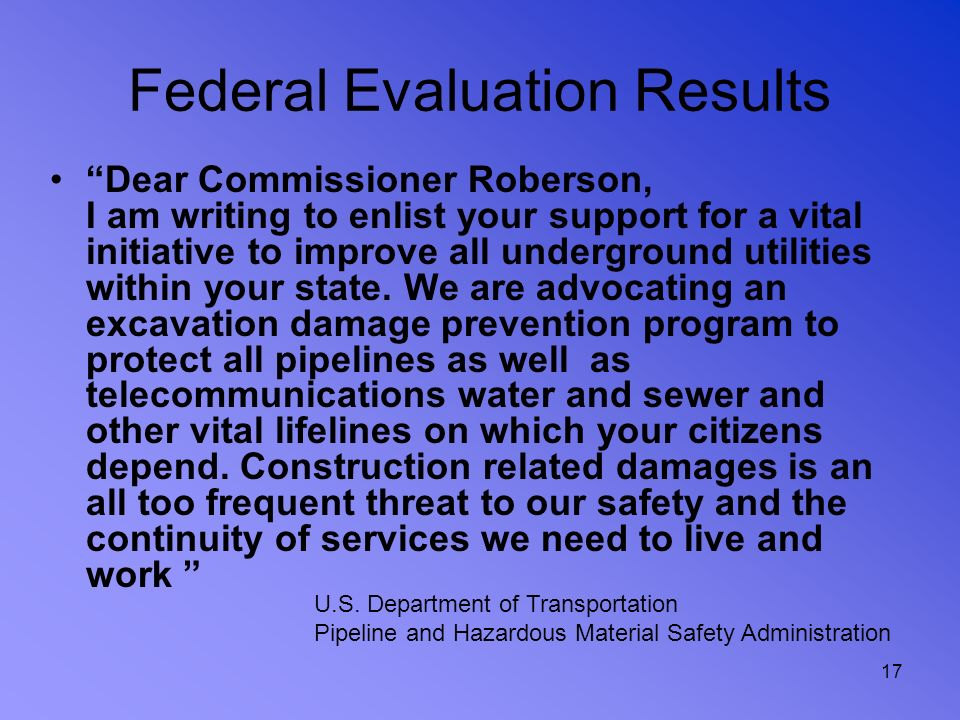 Federal Evaluation Results