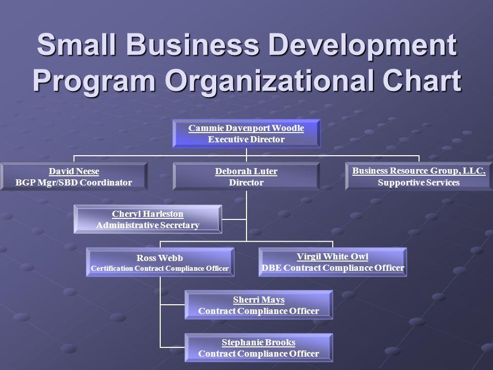 Small Business Development Program Organizational Chart
