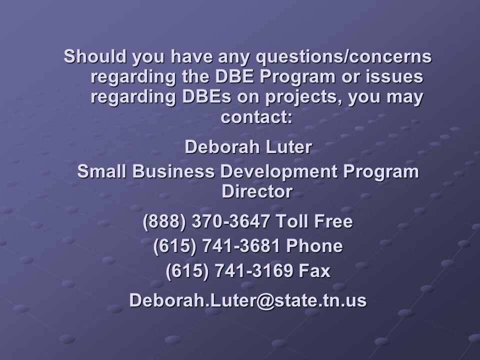Small Business Development Program Director