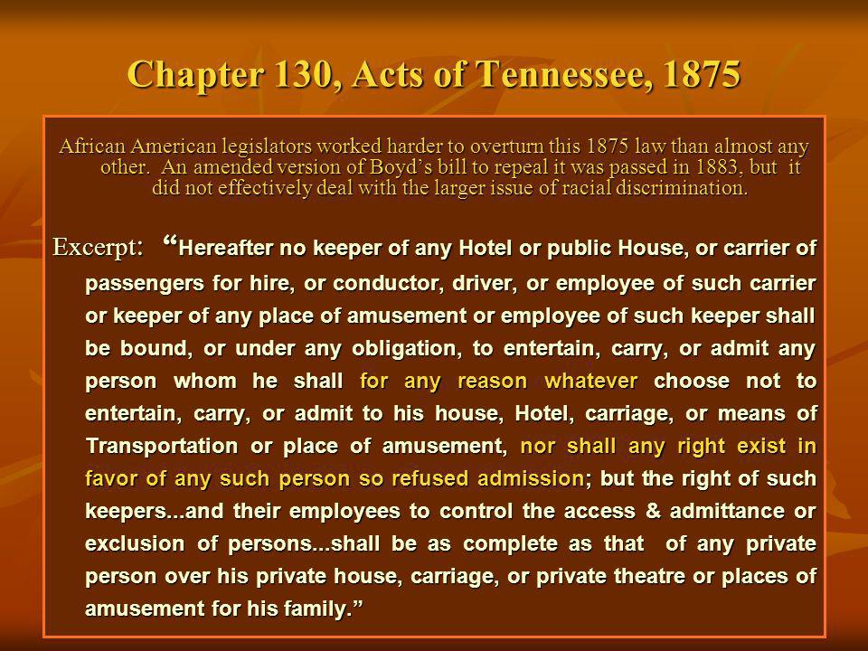 Chapter 130, Acts of Tennessee, 1875