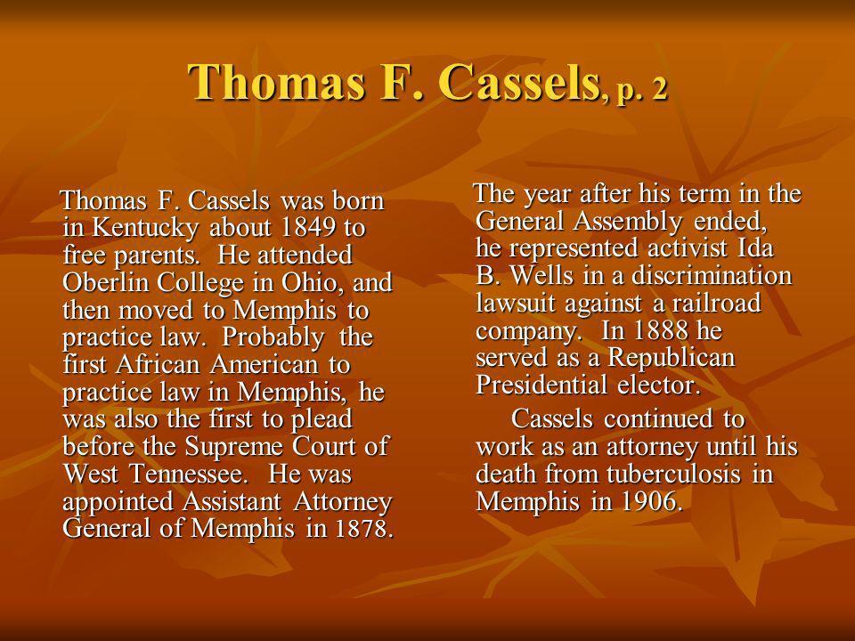 Thomas F. Cassels, p. 2