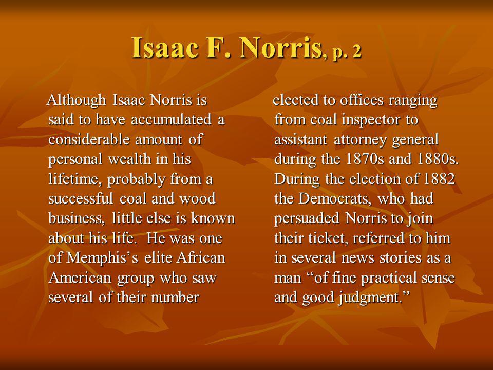Isaac F. Norris, p. 2