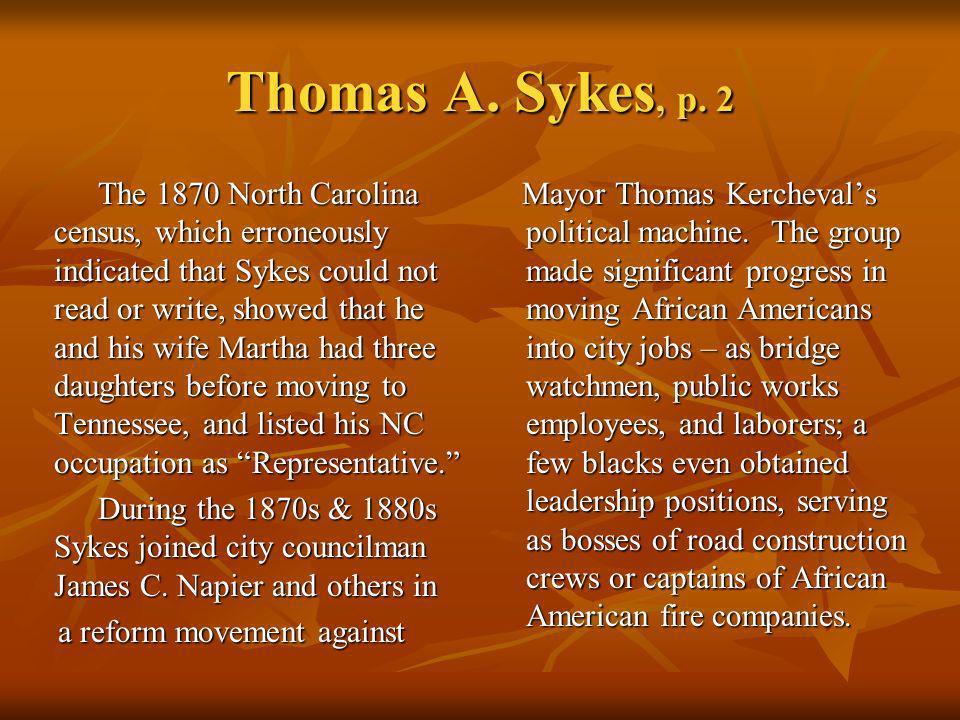 Thomas A. Sykes, p. 2