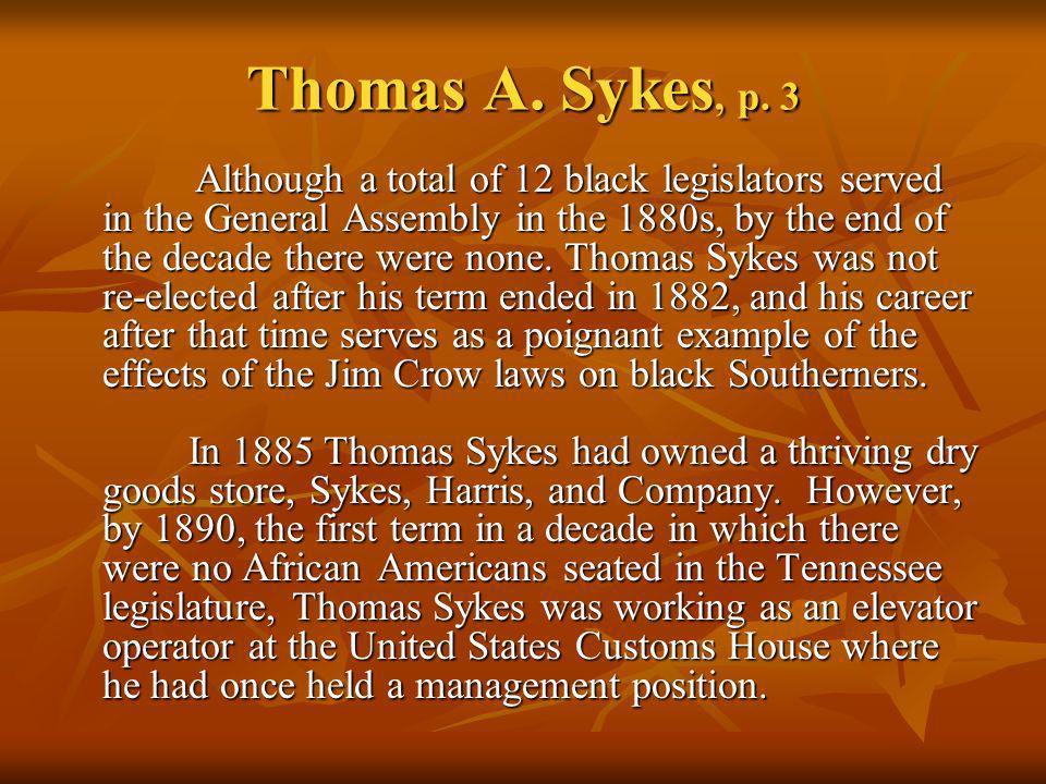 Thomas A. Sykes, p. 3