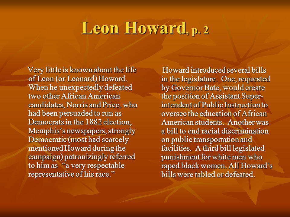 Leon Howard, p. 2