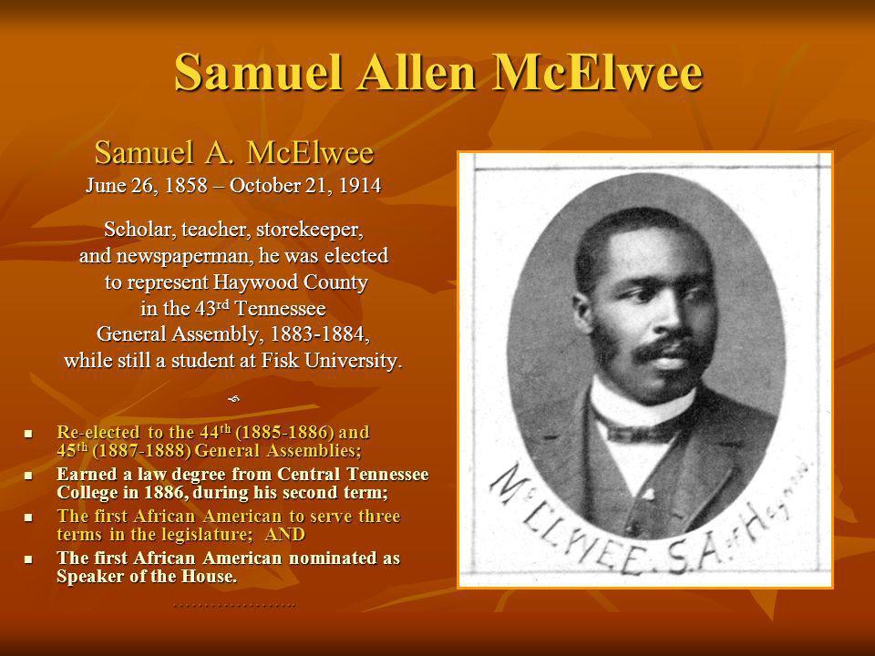 Samuel Allen McElwee Samuel A. McElwee