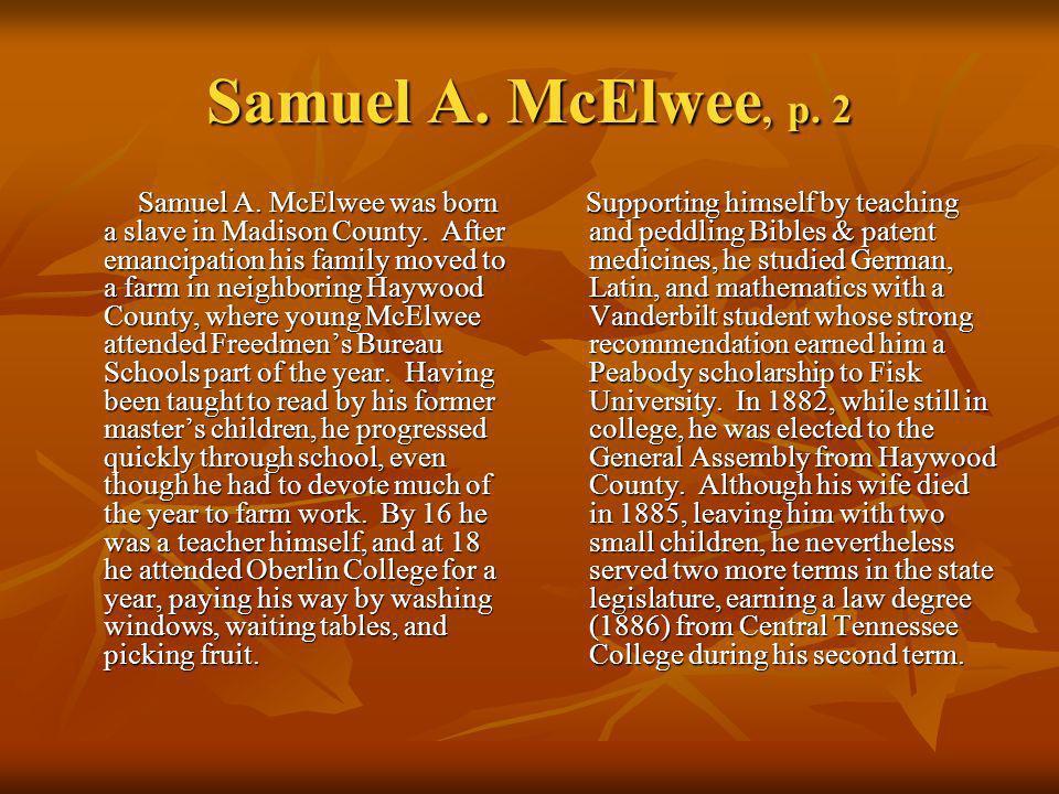 Samuel A. McElwee, p. 2