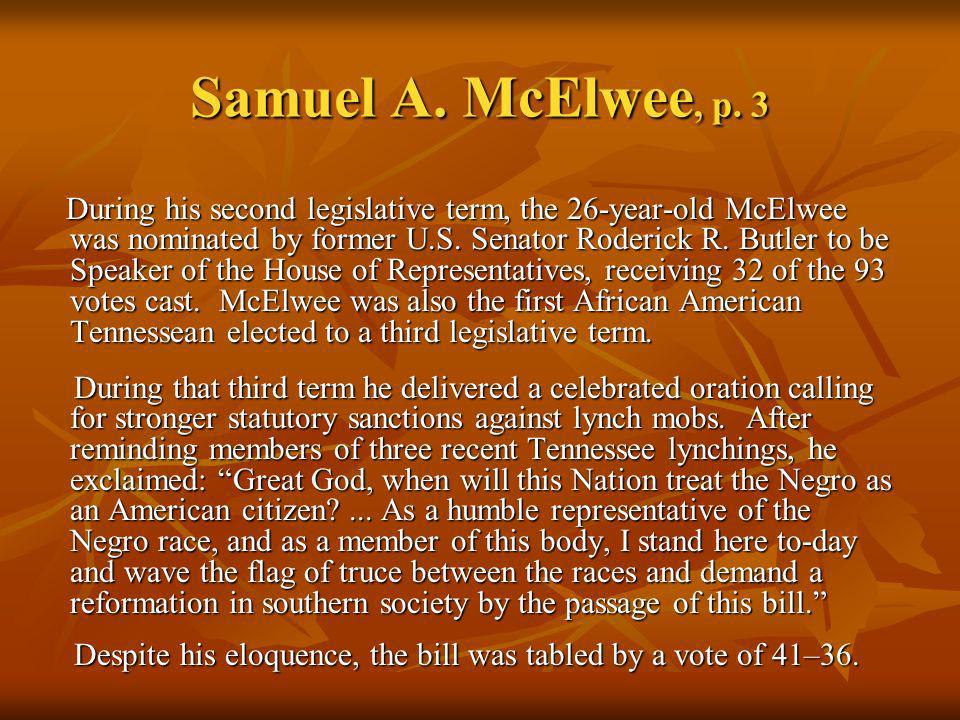 Samuel A. McElwee, p. 3