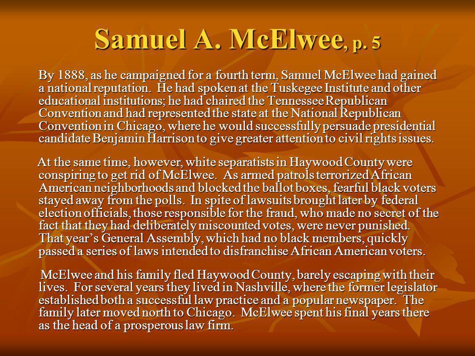 Samuel A. McElwee, p. 5