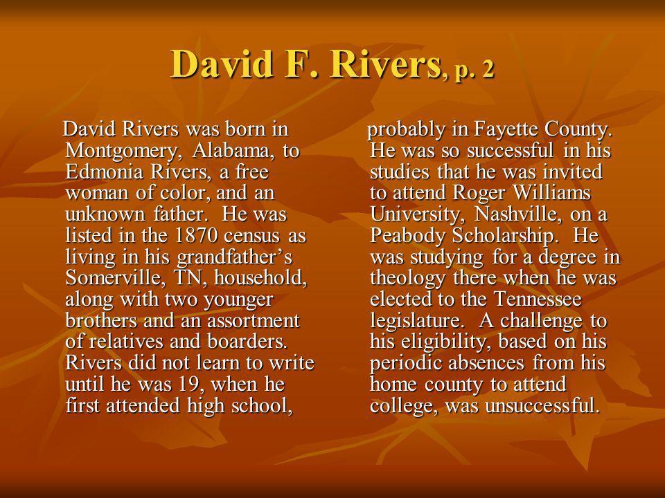 David F. Rivers, p. 2