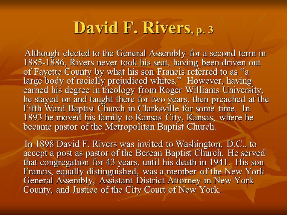 David F. Rivers, p. 3