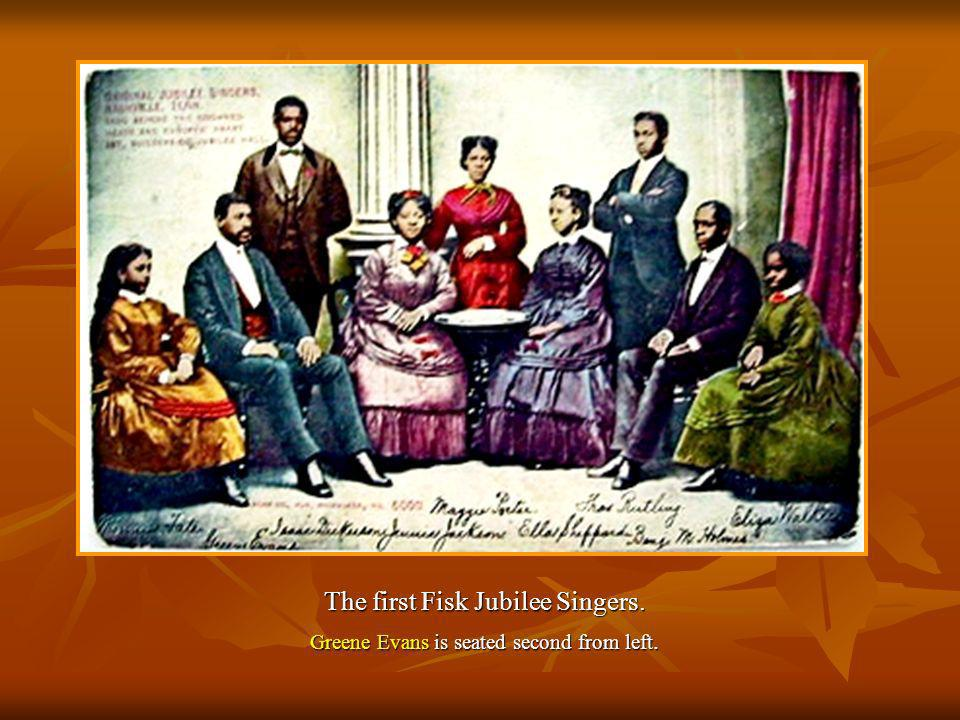 The first Fisk Jubilee Singers.