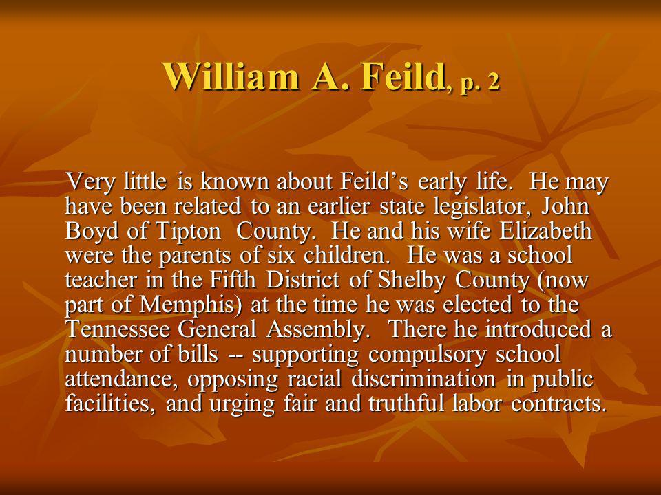 William A. Feild, p. 2
