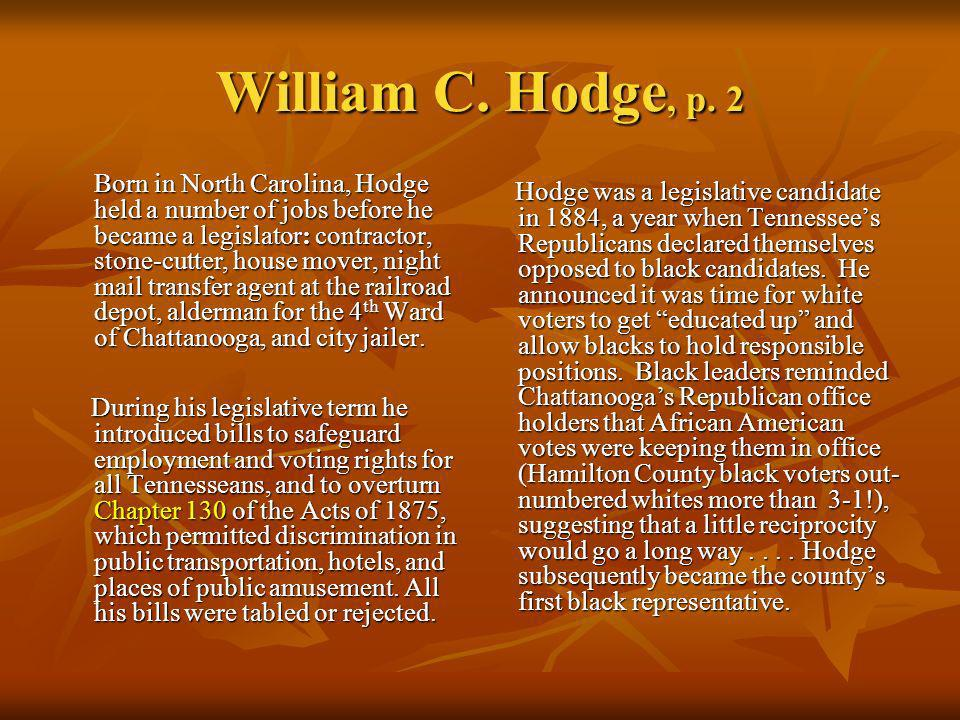 William C. Hodge, p. 2