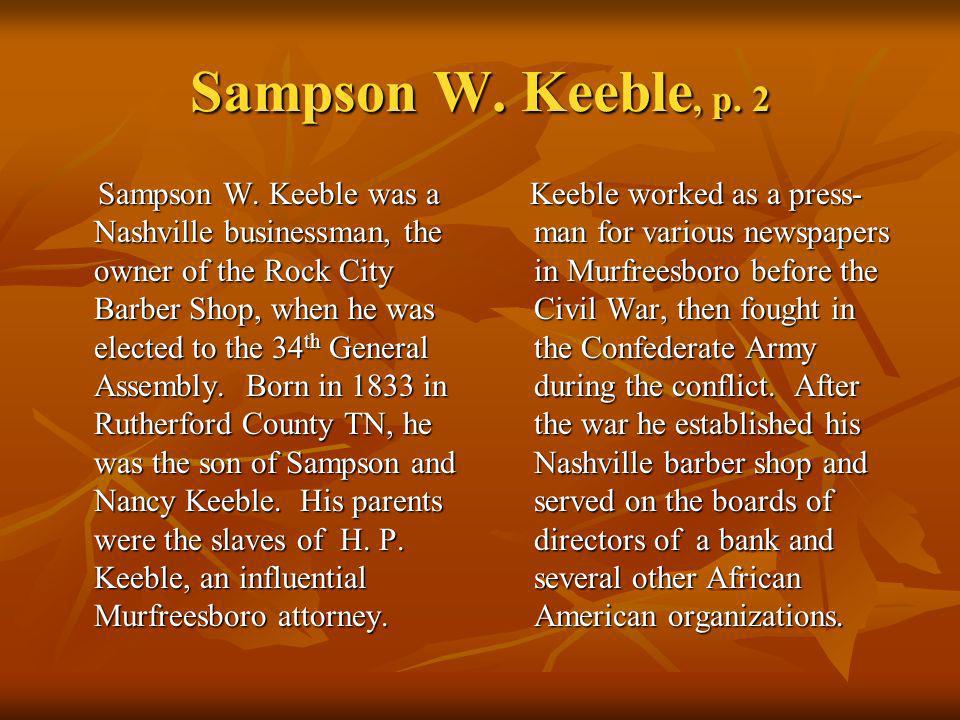 Sampson W. Keeble, p. 2
