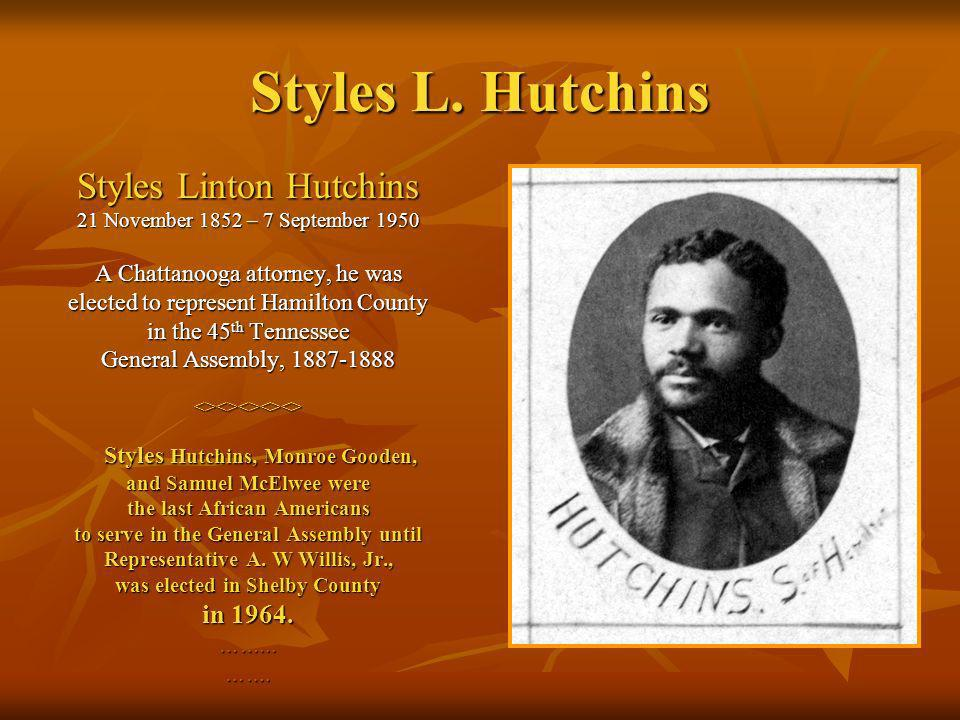 Styles L. Hutchins Styles Linton Hutchins in 1964.