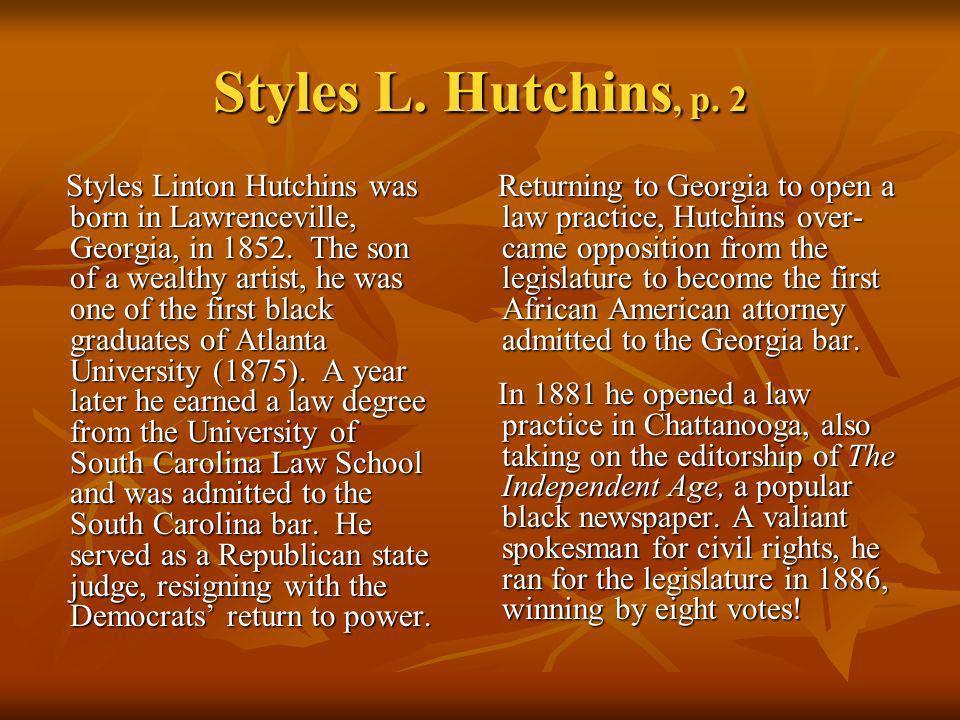 Styles L. Hutchins, p. 2