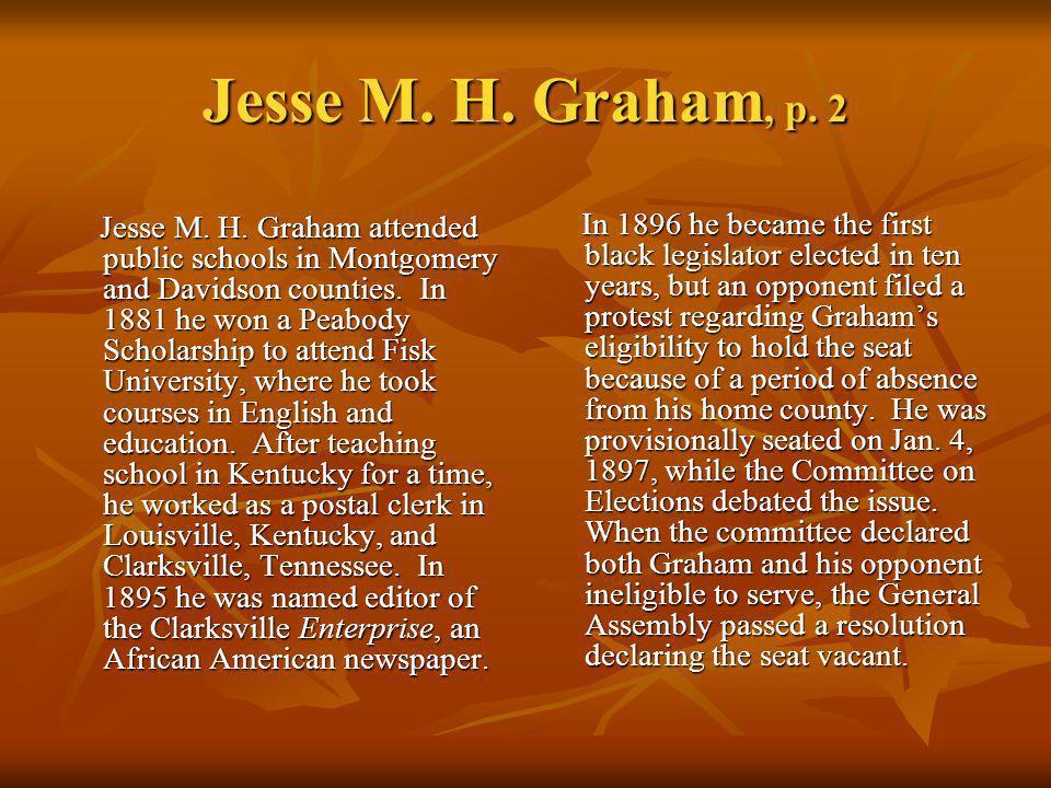 Jesse M. H. Graham, p. 2