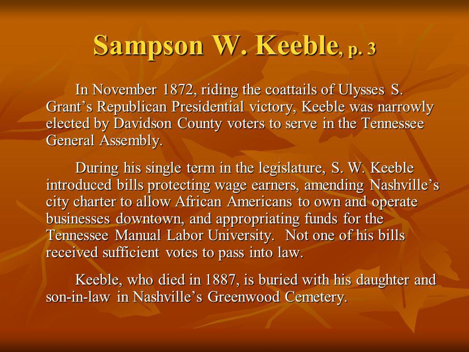 Sampson W. Keeble, p. 3