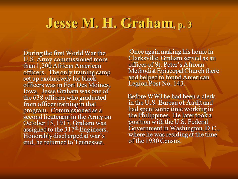 Jesse M. H. Graham, p. 3