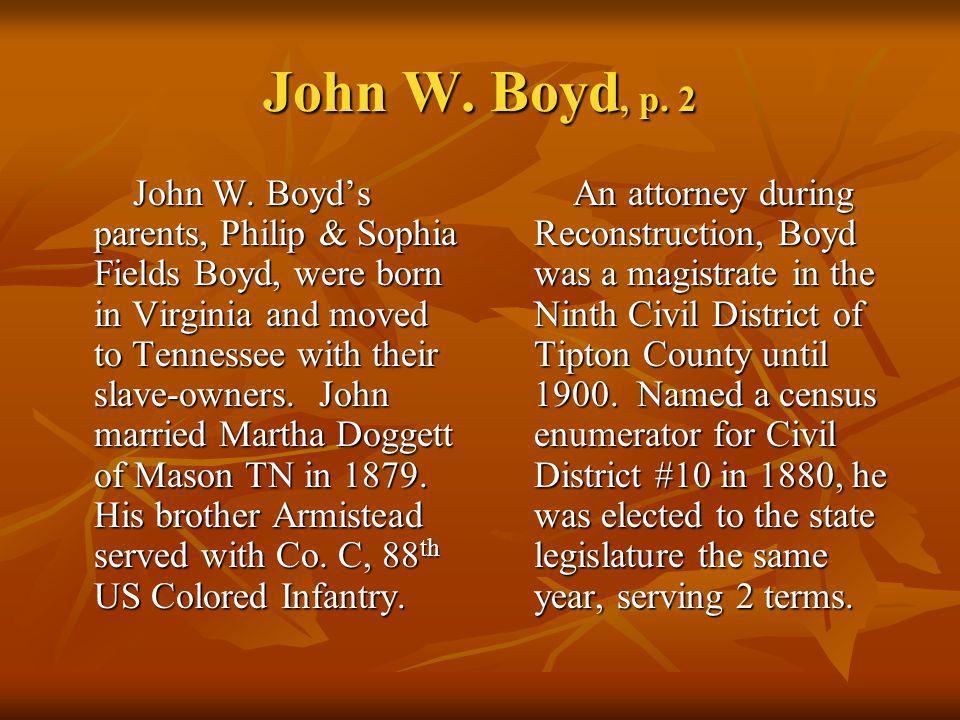 John W. Boyd, p. 2