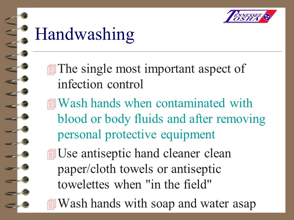 Handwashing The single most important aspect of infection control