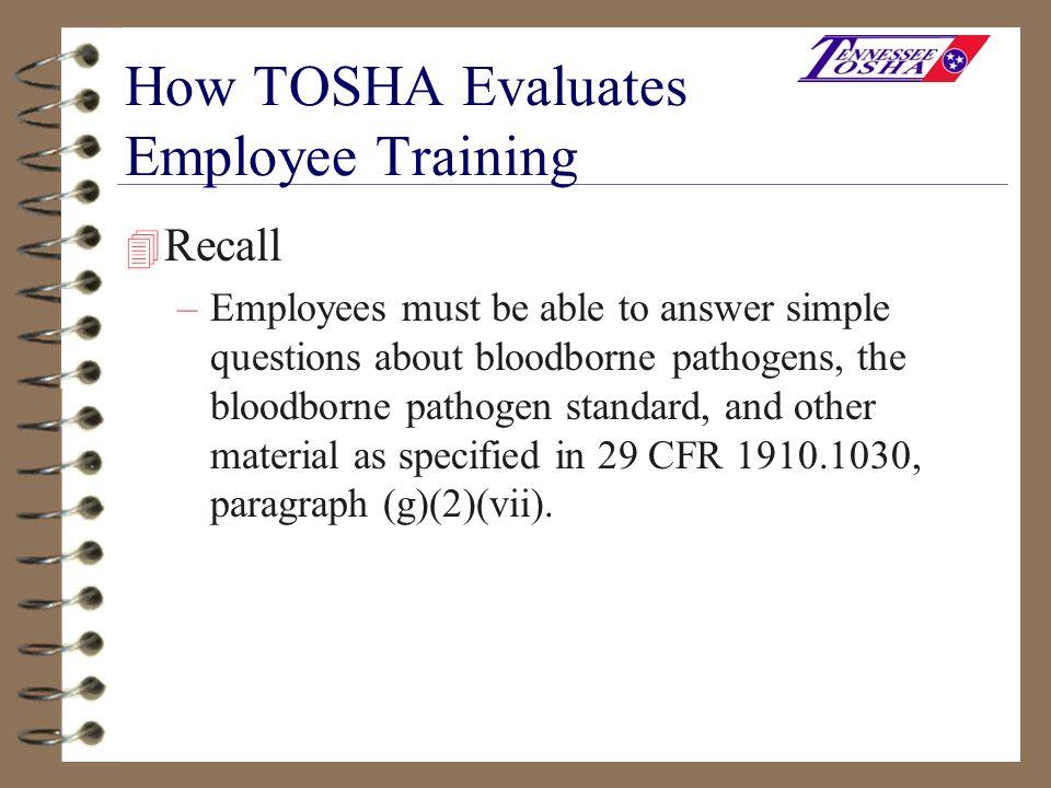 How TOSHA Evaluates Employee Training