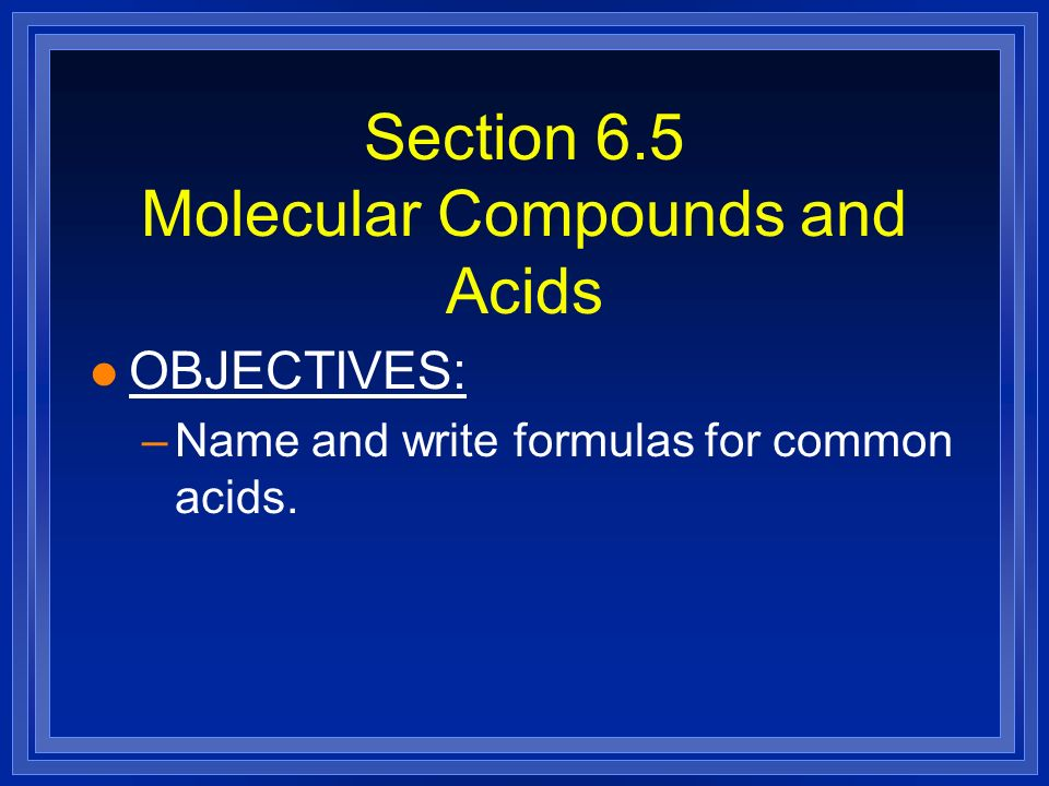 how to tell the chemical compounds of acids
